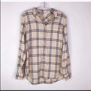 NWT J. CREW | Flannel Boyfit Button Front Shirt M